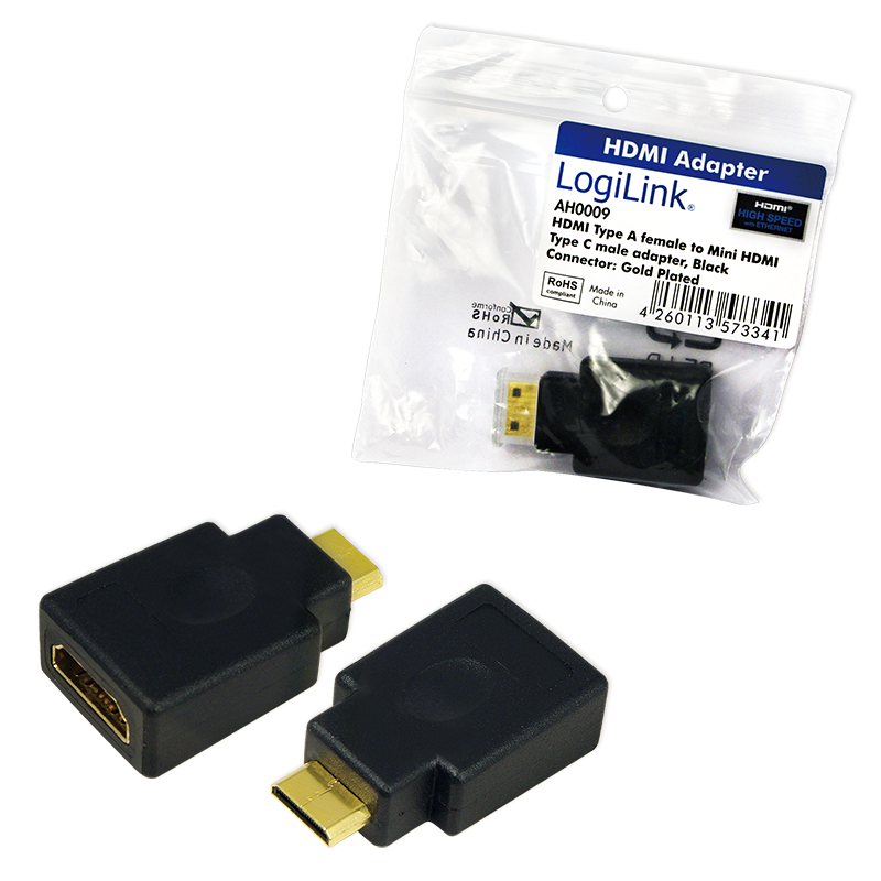 logilink produkt adapter hdmi auf mini hdmi. Black Bedroom Furniture Sets. Home Design Ideas