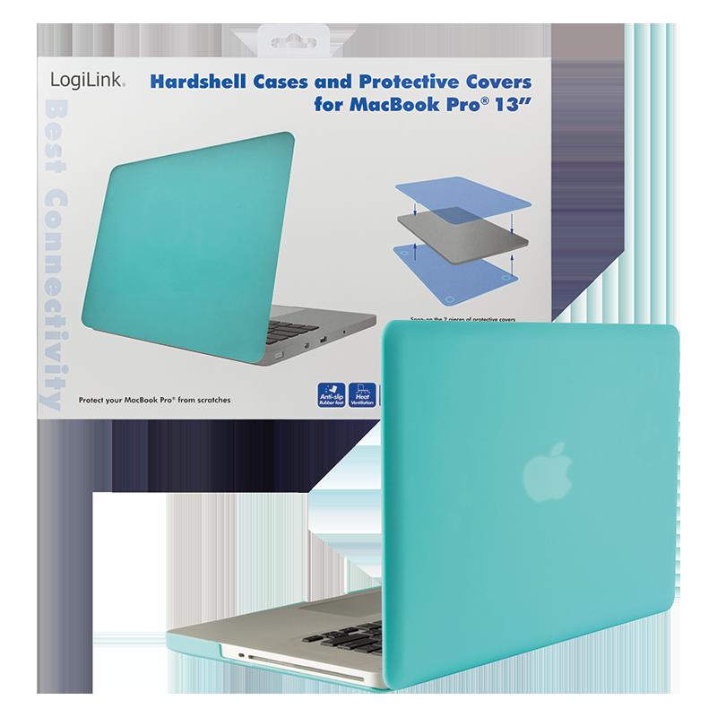 logilink produkt hartschalen schutzh lle f r das macbook pro 13 aqua blau. Black Bedroom Furniture Sets. Home Design Ideas