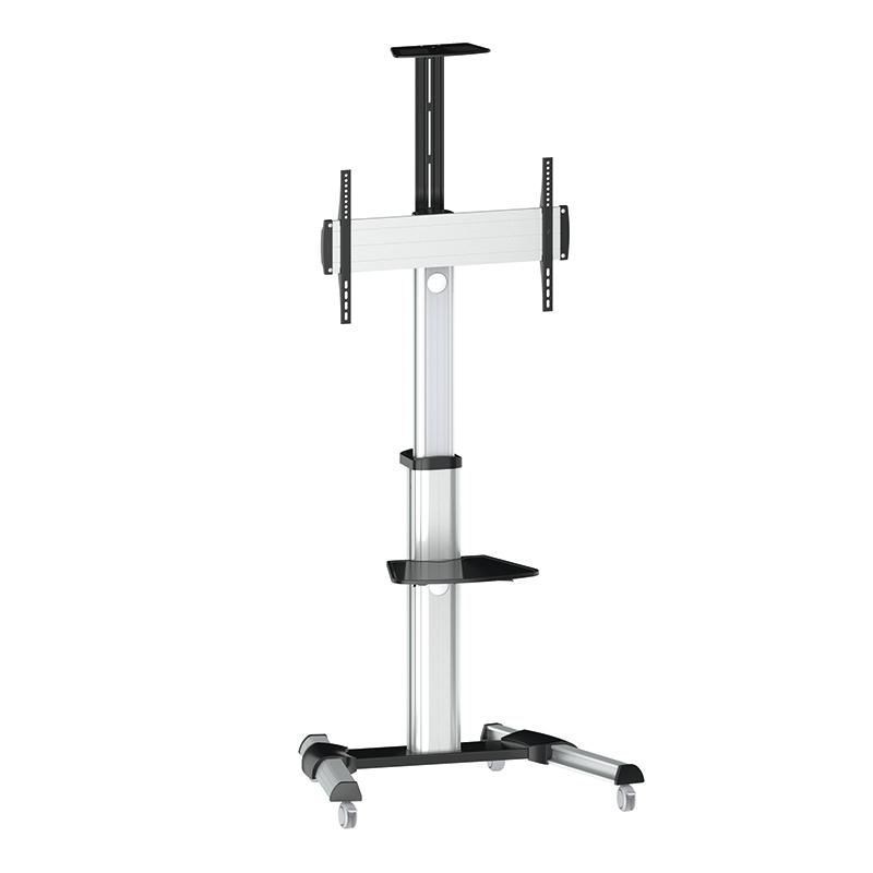 logilink produkt tv st nder auf rollen h henverstellbar 37 70 max 50 kg belastung. Black Bedroom Furniture Sets. Home Design Ideas