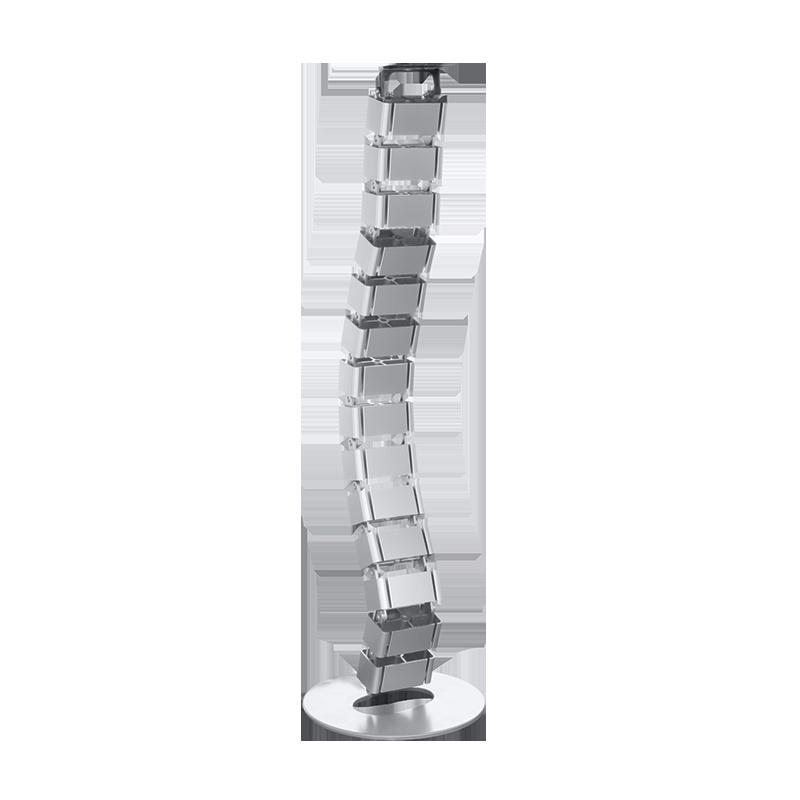 logilink produkt flexibler kabelkanal f r den schreibtisch 800 x 68 mm 18 gelenke silber. Black Bedroom Furniture Sets. Home Design Ideas