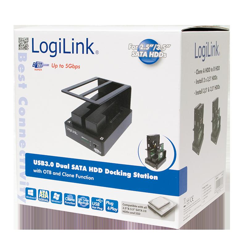 Logilink Produkt Quickport Usb 3 0 Fur Zwei 2 5 3 5 Sata